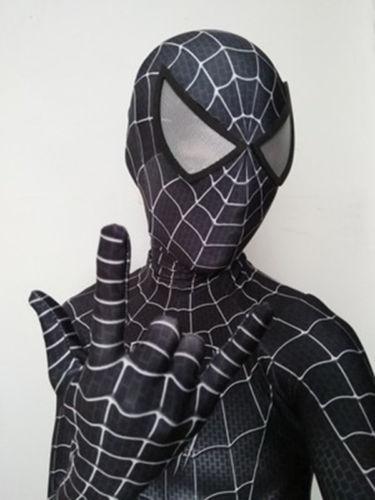 Negro Raimi Spiderman traje 3D impreso Lycra Spandex Halloween Cosplay  Zentai traje para los niños  3da1d22a8df