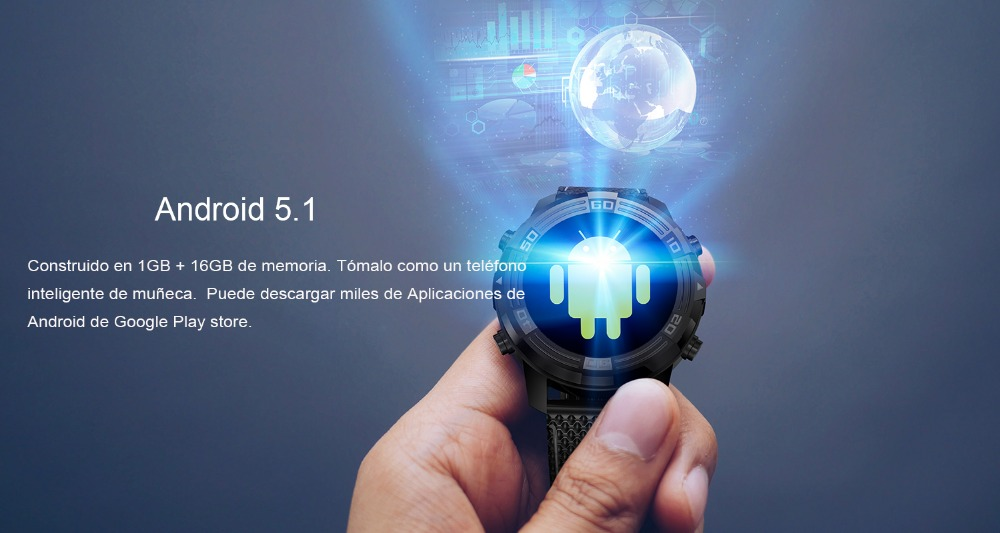 6 LEMFO LEM6 reloj inteligente Android 5.1