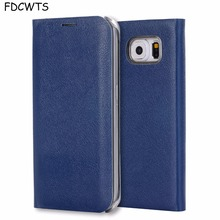 FDCWTS Flip Cover Leather Case For Samsung Galaxy S6 edge S6 Wallet Phone Case Cover With ID Credit Card Holder For Samsung S6