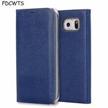 FDCWTS Flip כיסוי עור מקרה עבור Samsung Galaxy S6 קצה S6 ארנק טלפון מקרה כיסוי עם מזהה אשראי כרטיס בעל עבור Samsung S6