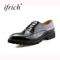 Ifrich Hot Sale Dress Shoes Men Summer Autumn Formal Dresses Black Red Wedding Footwear For Men