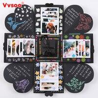 Nueva Explosión Caja Sorpresa Scrapbook Álbum de Fotos de BRICOLAJE con Divertido Kit de Cumpleaños Aniversario de Bodas de San Valentín Regalo Del Favor de Partido