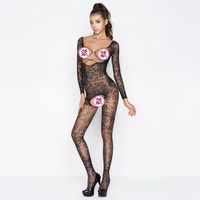 Europe And The United States Women S Lingerie Jumpsuit Temptation Transparent Nets Sexy Open Files Jacquard