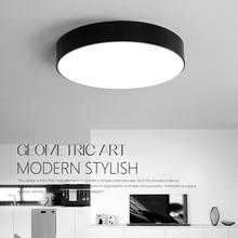 hot deal buy led modern acryl alloy black white round led lamp.led light.ceiling lights.led ceiling light.ceiling lamp for foyer bedroom