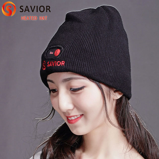 SAVIOR heated hat for winter cold weather smart control 3 levels men women  old man 7.4V b569a80a157