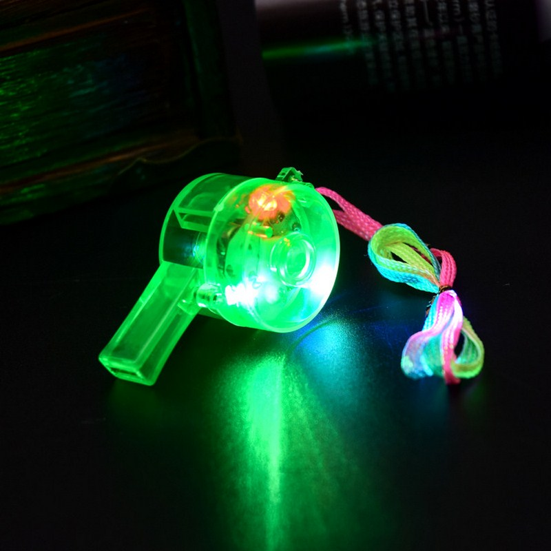 5PCS Led Whistle Funy Noise Maker Toy Cheer Props Decoration LED Para Fiestas Supplies Blinking Bar Color Light Up