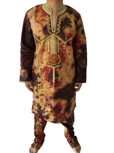 Image 5 - MD mens top pant set 2 pieces outfit suit african men clothes 2020 bazin african clothing for men dashiki shirt with trouser