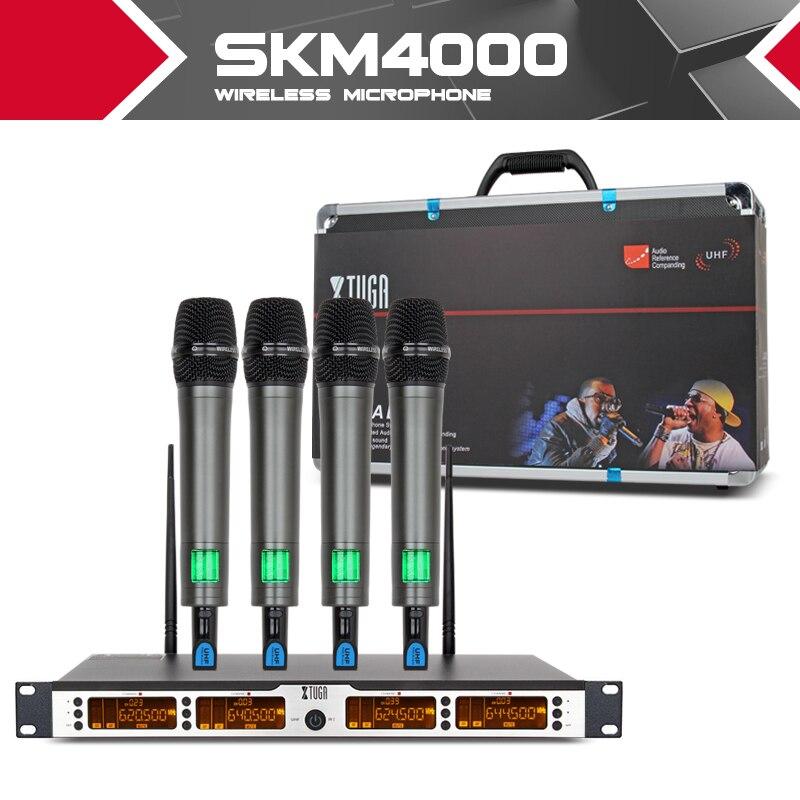 XTUGA SKM4000 top qualité 400 Canal Sans Fil Microphones Système UHF Étape de Partie de poche de poche col mic casque cravate
