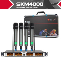 XTUGA SKM4000 top quality 400 Channel Wireless Microphones System UHF Party Stage handheld bodypack collar mic headset lavalier