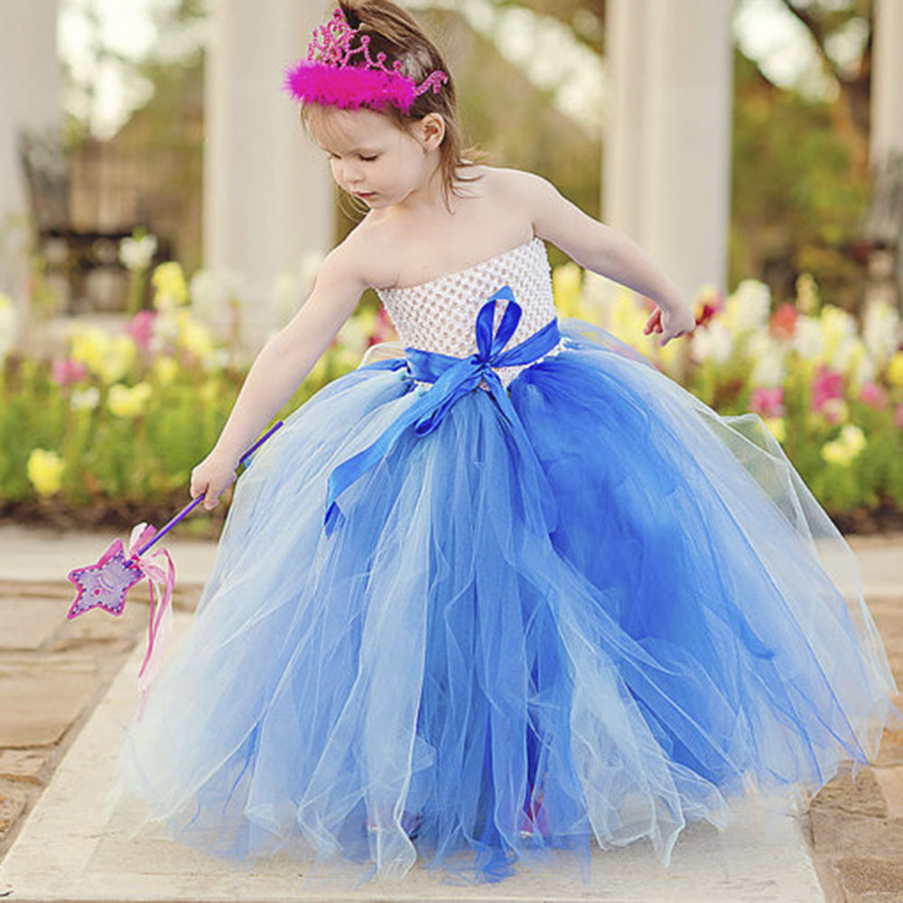 Adorable Baby Girl Sleeveless Sash Birthday Tutu Dress Kids Puff Evening Party Dance Dresses Children Wediing Photo props Wear