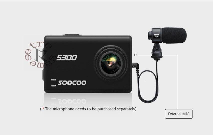 SOOCOO на S300 действие Камера 2,35 touch lcd Hi3559V100 + IMX377 4 К 30fps EIS Wi Fi 12MP CMOS bluetooth remote внешний микрофон