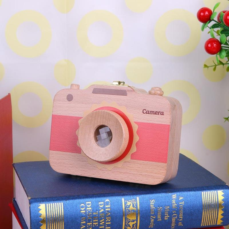 Camera Design Wood Baby Girl Boy Tooth Organizer Box Save Deciduous Teeth Hair Storage Keepsakes Collecting Box Gift