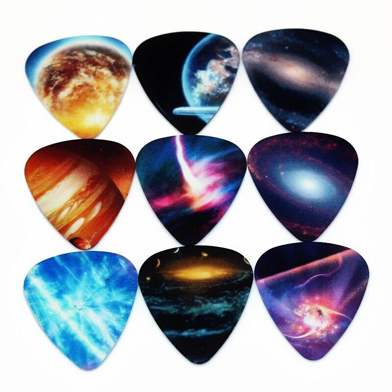 SOACH 50pcs Bass Guitar pick Cosmic planets Plucked Instrument Accessories  Guitar / Acoustic guitar / ukulele Parts