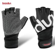 Boodun Men Women Half Finger Crossfit Gym Gloves font b Fitness b font Gloves Body BuildingWeight