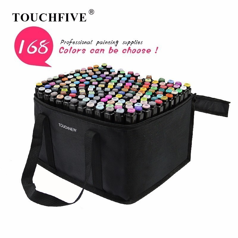 TOUCHFIVE Optional 168 Colors  Art Markers Brush Pen Sketch Alcohol Based Markers Dual Head Manga Drawing Pens Art Supplies