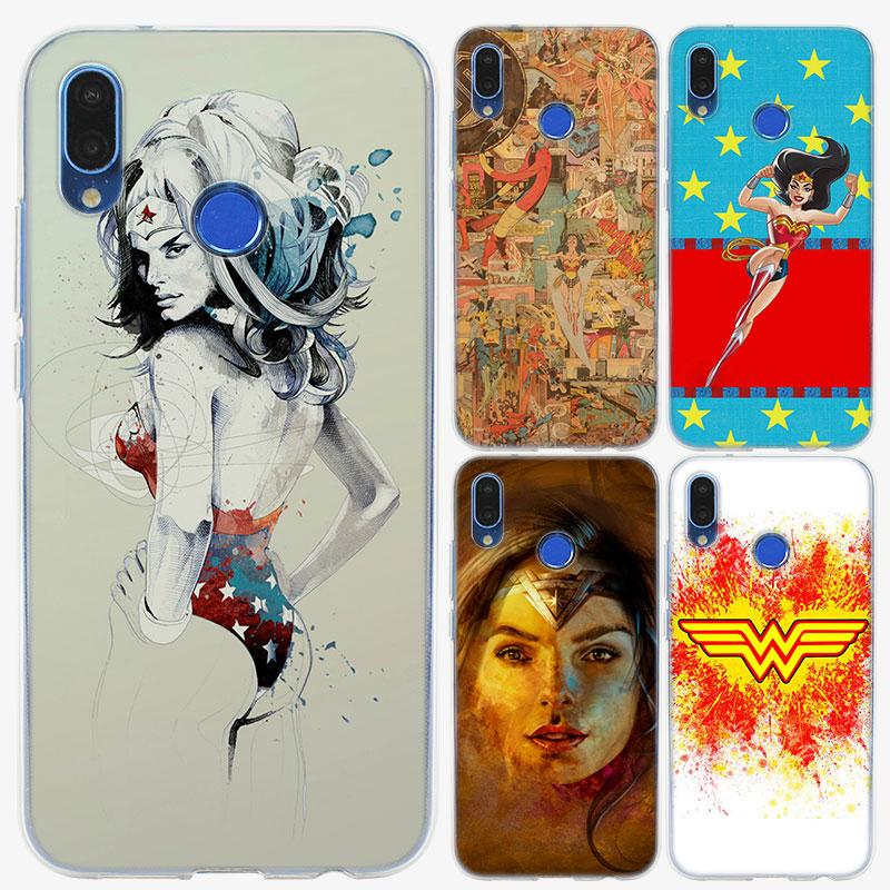 Soft Silicone Phone Case wonder woman logo TPU Silicone Phone Case for Huawei P20 P20Lite P10 P8 P9 Lite 2017 P Smart