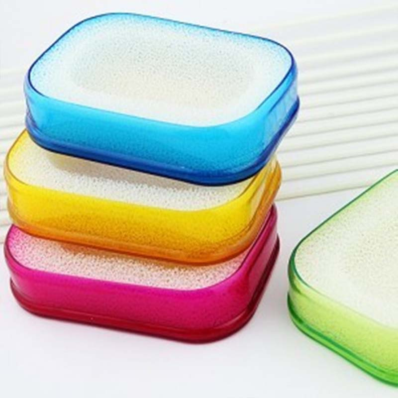 Soap Box Bathroom Multifunctional Soap Sponge Holder Double Layers Easy To Dry Absorbent Sponge Soap Box Bathroom Accessories