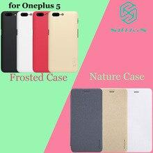 OnePlus 5 чехол Nillkin Sparkle Leather Filp задняя крышка для OnePlus 5 A5000 Nilkin Матовый PC пластиковый чехол для телефона один плюс 5