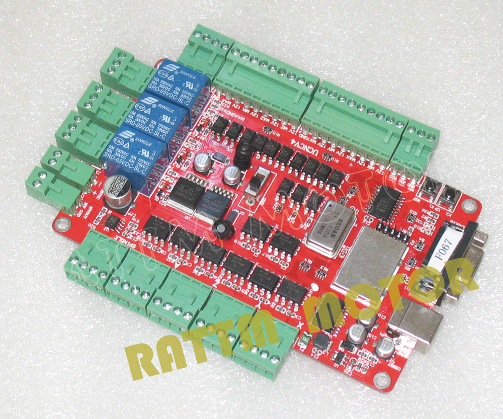 4 axis USBCNC breakout board without hand controller