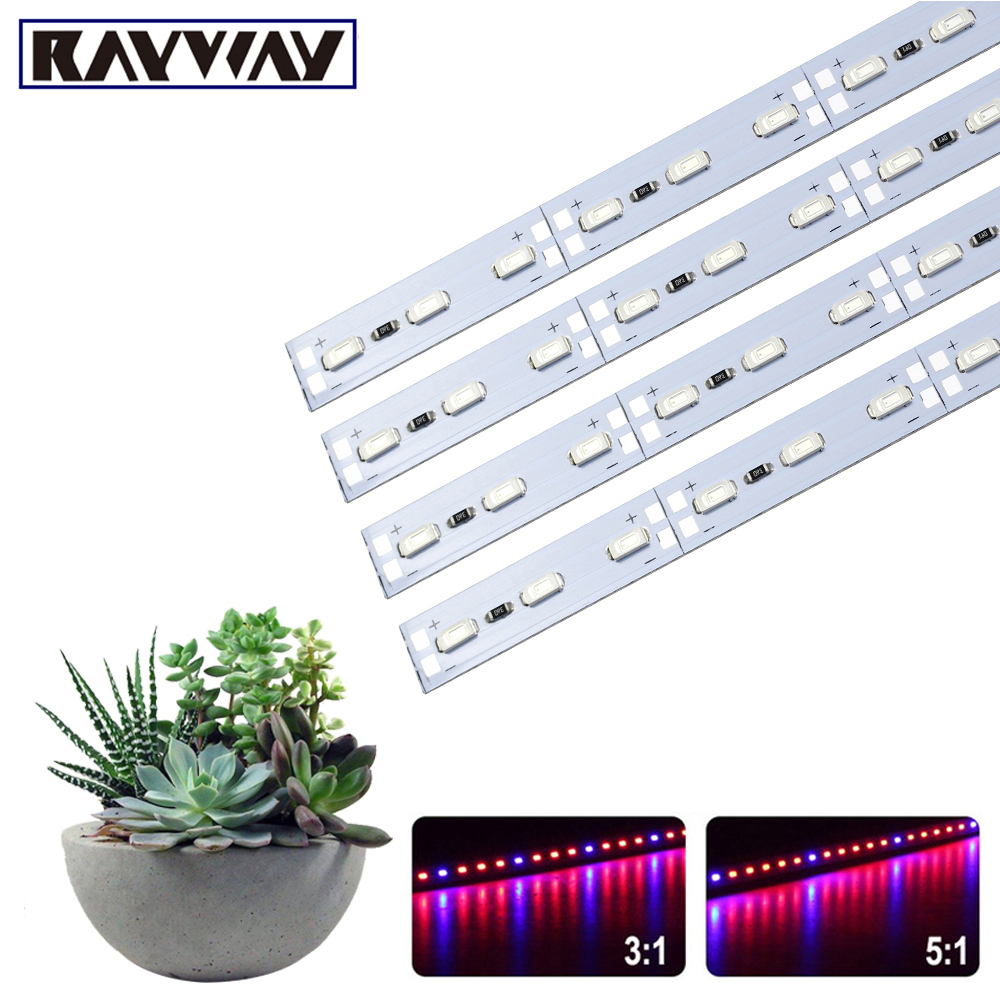 5730LED Grow Light 12V 50CM LED Bar Lamp For Plants Phytolamp For Grow Tent Houseplants Flowers Seedling Lighting 50pcs
