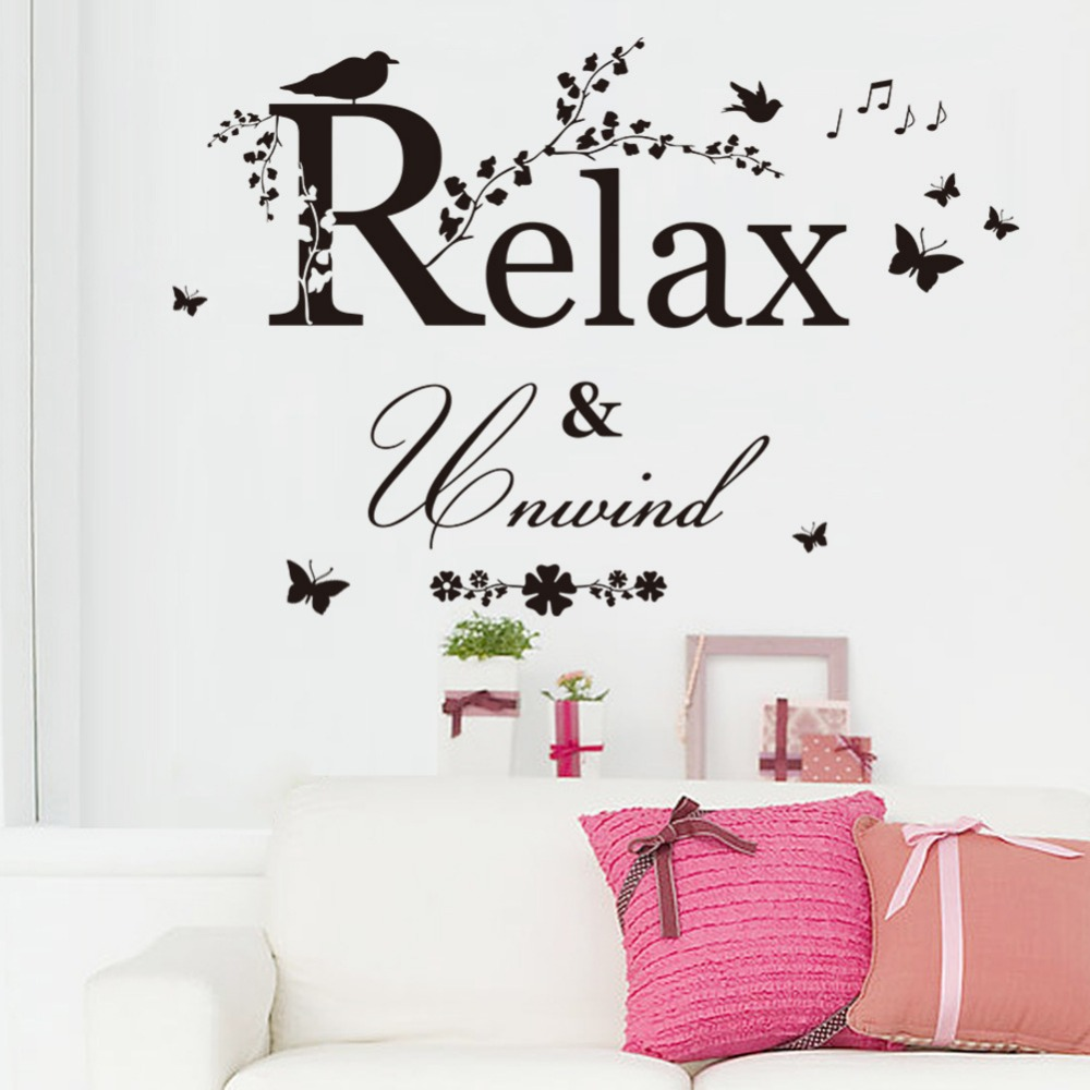 Diy Wall Stickers Relax Relax Decal Home Decor Restaurant