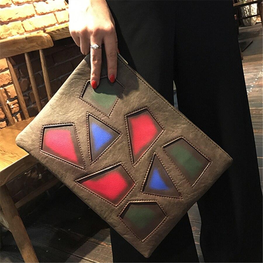 Aufrichtig 2018 Hotsale Kleine Feste Plaid Geometrische Lingge Umschlag Handtasche Frauen Kupplung Geldbörse Damen Umhängetasche Messenger Schulter Tasche Rheuma Lindern