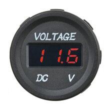 Digital-Voltmeter Monitor Car-Motor-Panel-Mount Led-Display Solar-Battery Bright DIY