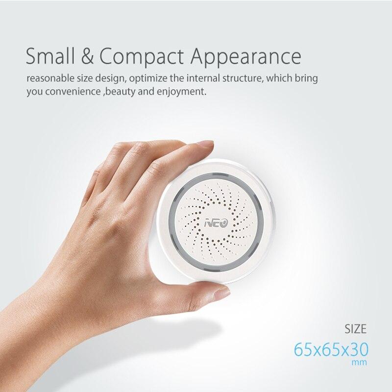 Helpful Neo Wifi Siren Alarm Sensor And App Notification Alerts,no Hub Required Plug And Play,compatiab Alexa Echo Google Home Smart Home