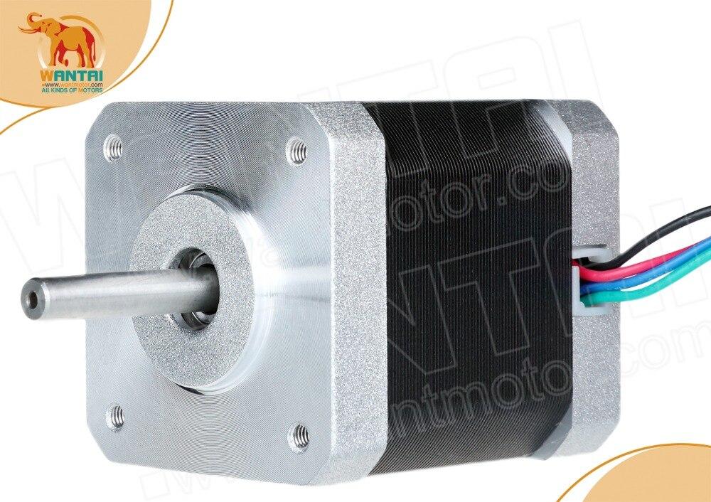 1PC Nema17 0.9degree Stepper Motor 42BYGHM810 4200g.cm 42N.cm 60oz-in 48mm 2.4A 3D Printer Reprap Robot CNC WANTAI,FreeShiptoMos