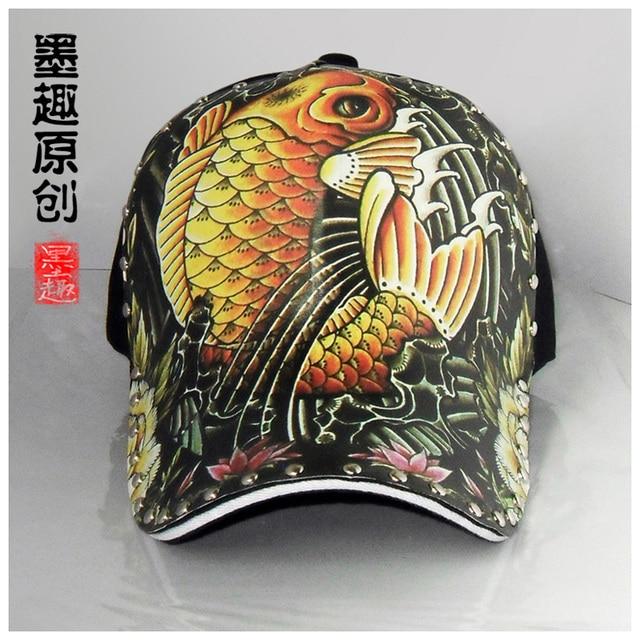 2015 latest sale Baseball cap personality fashion snapback lucky fish pattern hat gorras