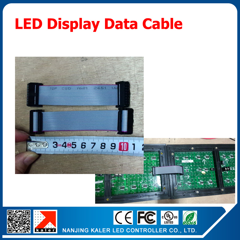 10pcs/lot 10cm Short Flat Wire/ Hub Cable For LED Display, LED Screen Board Accessories 16Pin Data Cables