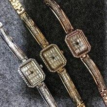 Эксклюзивная Модная Часы С Бриллиантом Rhienstone Женщины Кварцевые Браслет Часы Для Женщин relojes mujer 2016