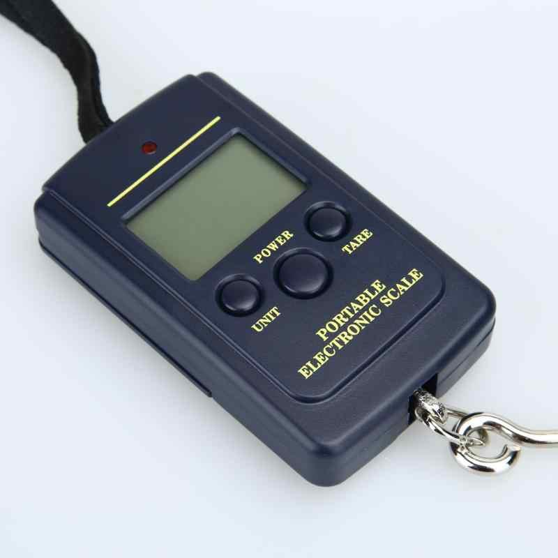 40kg x 10g Portable Mini balance numérique pour pêche voyage bagages pondération Steelyard suspendus électronique crochet échelle cuisine Weig