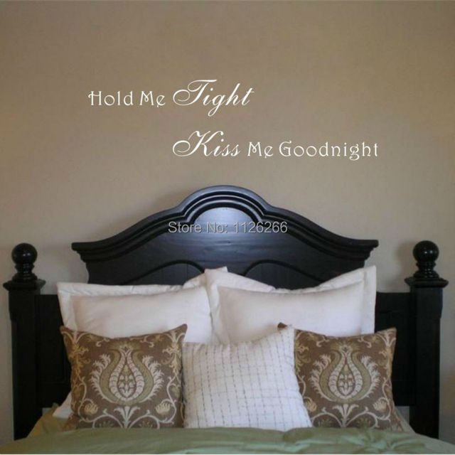 Romantic Sayings Wall Decor Sticker Hold Me Tight Kiss Me Love ...