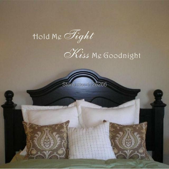 romantische gezegden muur decor sticker hold me strakke kus me liefde citaat vinyl decal voor slaapkamer