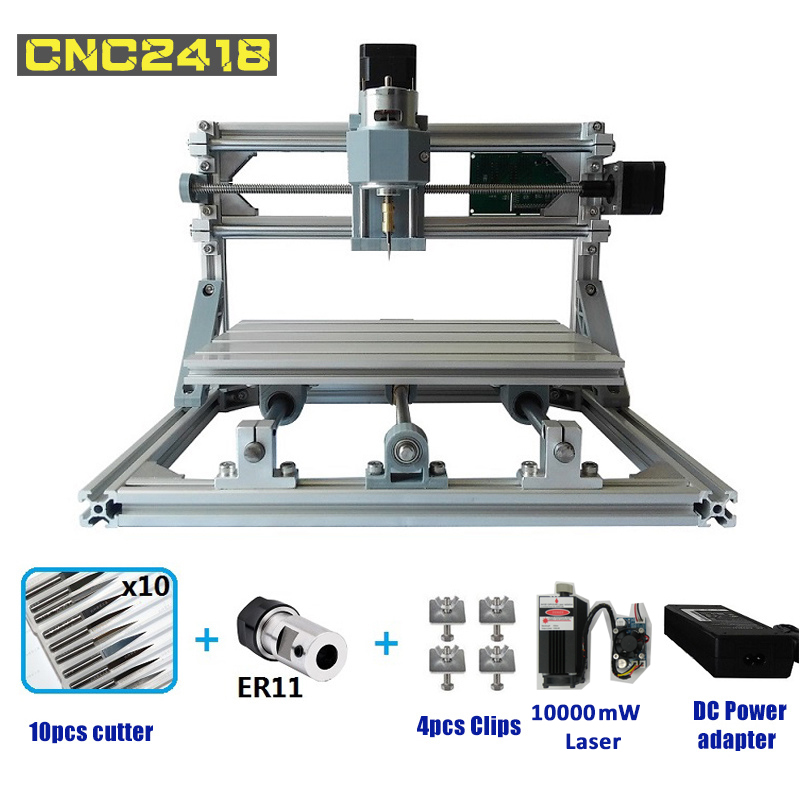 CNC2418 Laser Engraving Machine Mini Router Laser engraver GRBL Hobby DIY Machine 240*180*45mm for Wood PCB PVC Mini CNC Router цена