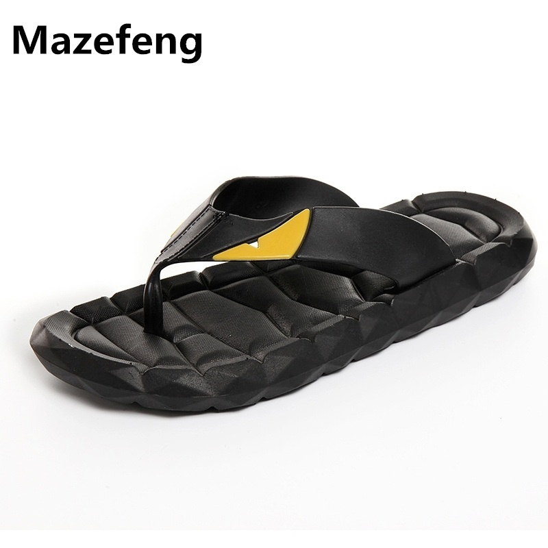 Summer Plus Size Men Slippers Cool Fashion Men Shoes Antiskid Sole Beach Shoes Flip Flops Personality Zapatos Hombre A086 kenzo бермуды kenzo f351sh0095hj желтый оранжевый