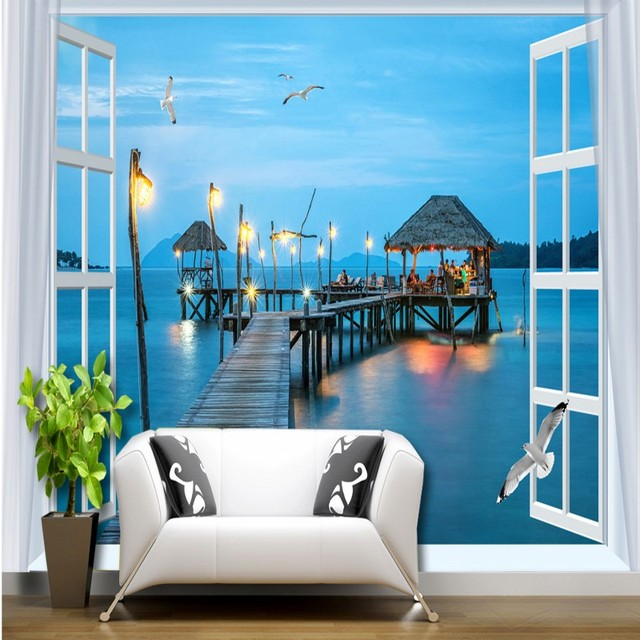 window study bedroom night outside sitting lobby corridor background pier mural sea wall zoom 3d mouse wallpapers