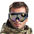 WOSAWE Protección UV Deportes de Invierno Esquí Snowboard Gafas Motocross Ciclo Goggle Eyewear de Los Vidrios de La Lente Colorida Marco Negro