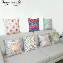 Fuwatacchi Hot Stamping Cushion Cover Printed Cover  Pillow Case for Chair Pillow Cover Decoration for Car Throw Pillows Cases fuwatacchi cute unicorn cushion cover gold stamping throw pillow cover new rainbow christmas decorative pillows for home chair