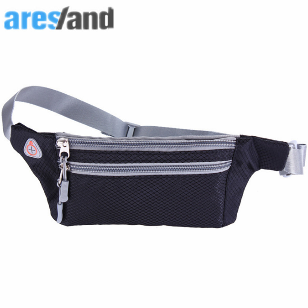 ARESLAND portable fashion Waist Bag Pack Men Women Belt  For Wallets Phone 4-6 Inch Phone For Iphone Xiaomi Huawei Black ...