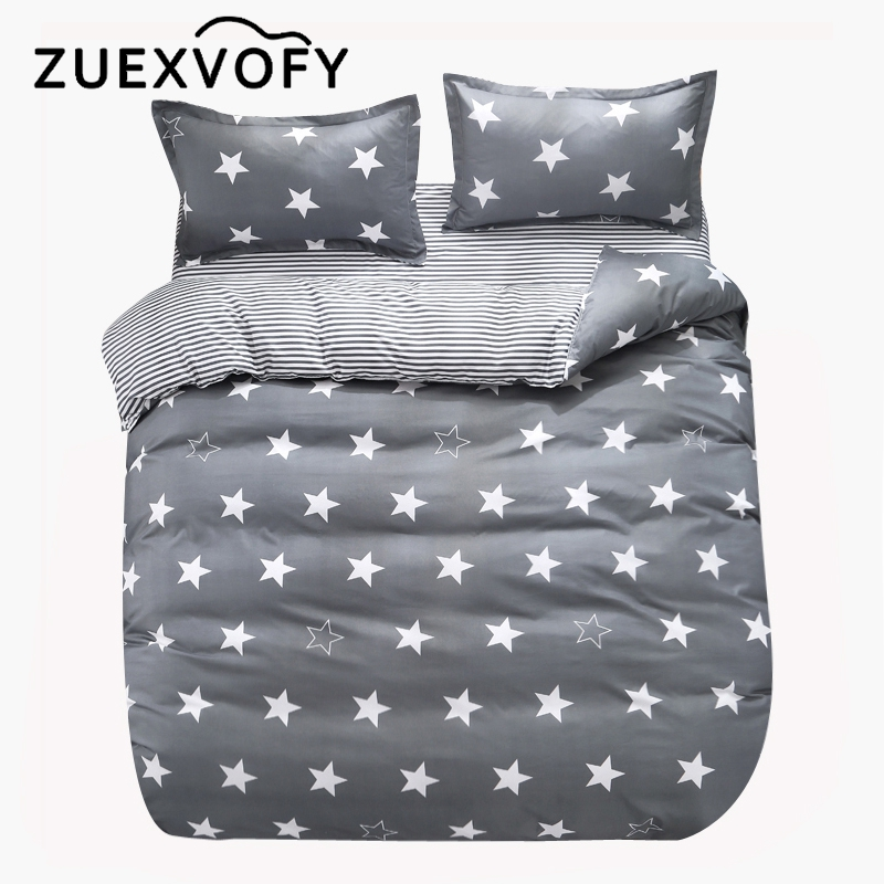 Crib Bedding Sets For Baby Children Kids Toddler Cot Quilt Duvet Cover Set,2PCS Set Bed Set Bedclothes Gray Star