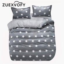 Crib Bedding Sets for Baby Children Kids Toddler Cot Quilt Duvet Cover Set,2PCS Set Bed Set Bedclothes Gray Star(China)