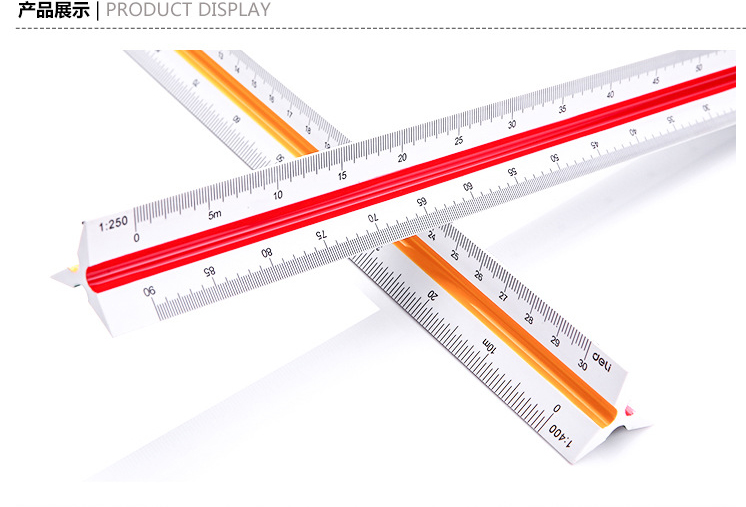 Plastic Triangular Scale Ruler (1:20~1:125) 30cm designers office achitects school students H-quality Engineering drawing c