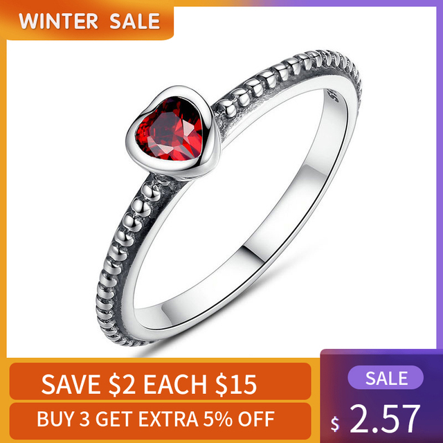 Hot Sale Silver Color Dazzling Infinity Clover Heart Female Ring Finger Ring for