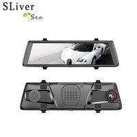 SLIVERYSEA 10 полный зеркало Touch Двойной объектив FHD 1080 P Видеорегистраторы для автомобилей 1:1 Разделение вид Зеркало заднего вида Камера автомоби
