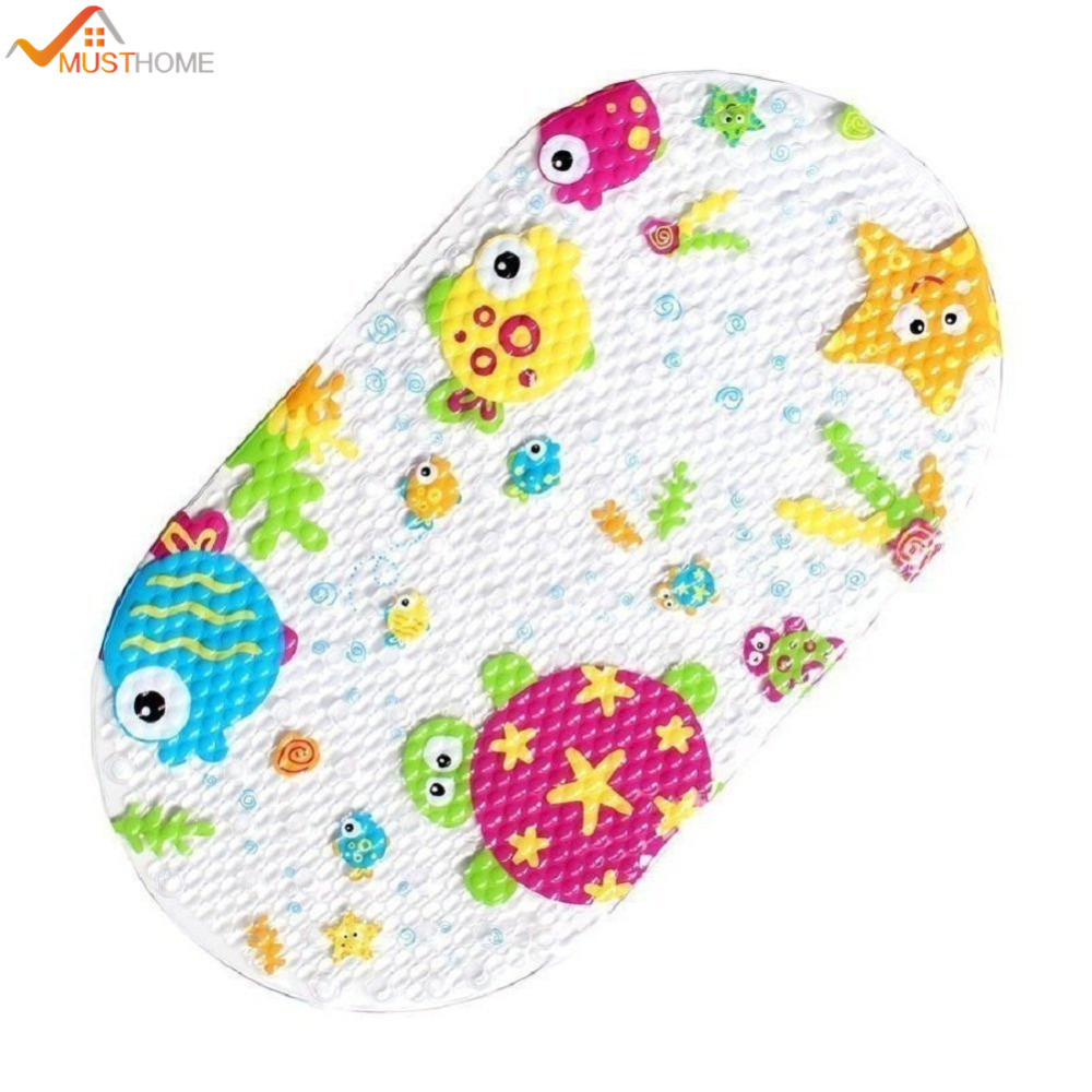 Oval bathroom rug - 39cmx69cm Bathroom Cartoon Anti Slip Oval Shape Pvc Bath Mat Rugs For Kids China