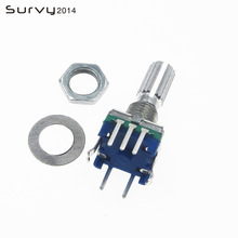 цена на 5pcs Rotary encoder,code switch EC11 audio digital potentiometer,with switch handle length 20mm