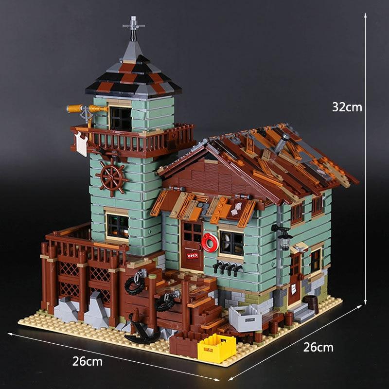 Lepin 16050 Le Vieux Magasin De Peche Set Veritable 2109 Pcs MOC Serie Building Blocks Briques Educatifs 21310 de noel grandville noel