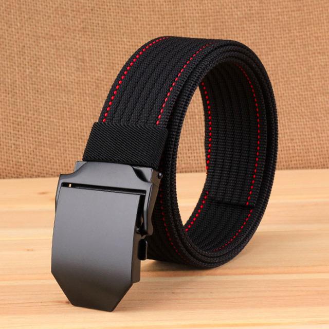 Cinturón táctico de Nylon 3,8 CM de ancho hebilla automática